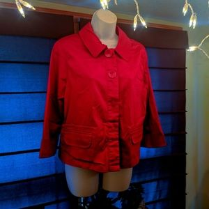 Live a little red jacket size large